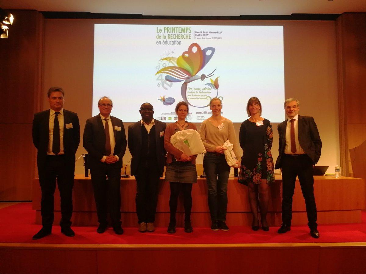 Lauréats du Prix poster doctorant (5ème Printemps de la recherche)